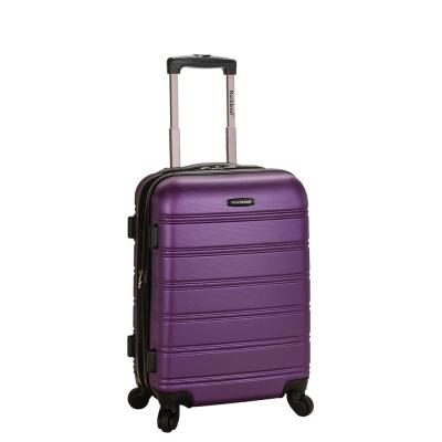 Melbourne 20 in. Expandable Carry on Hardside Spinner Luggage, Purple