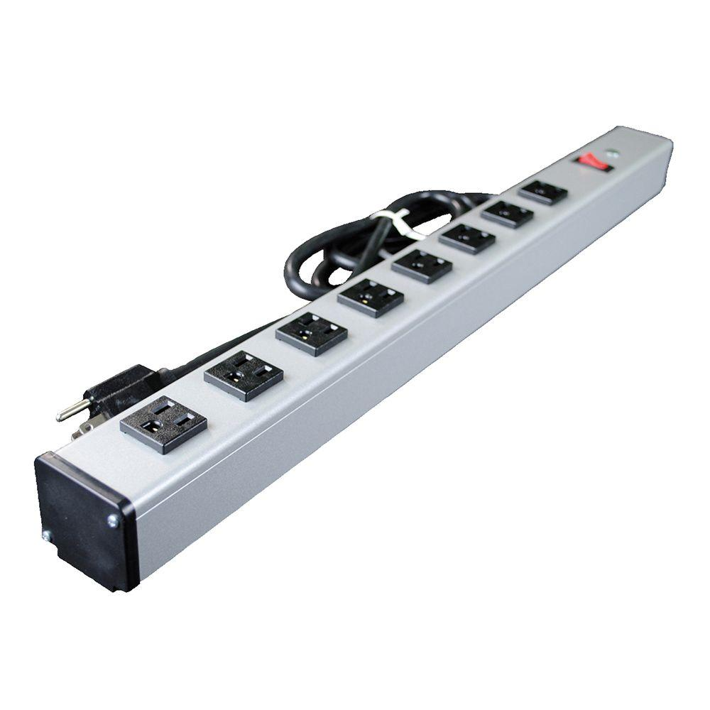 Legrand Wiremold 8 Outlet 15 Amp 2 Ft Long Industrial Power Strip