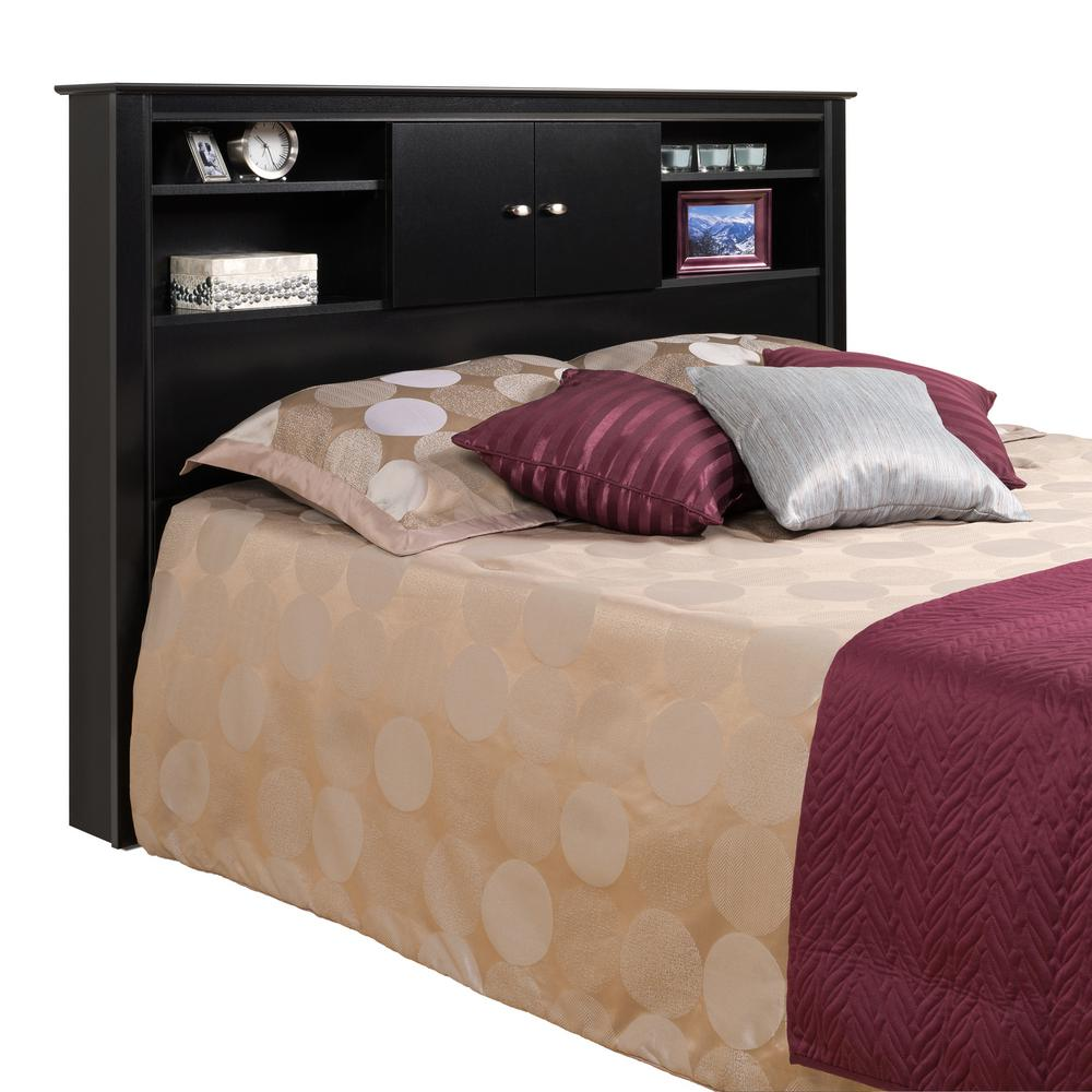 Prepac Kallisto Black Double/Queen Headboard