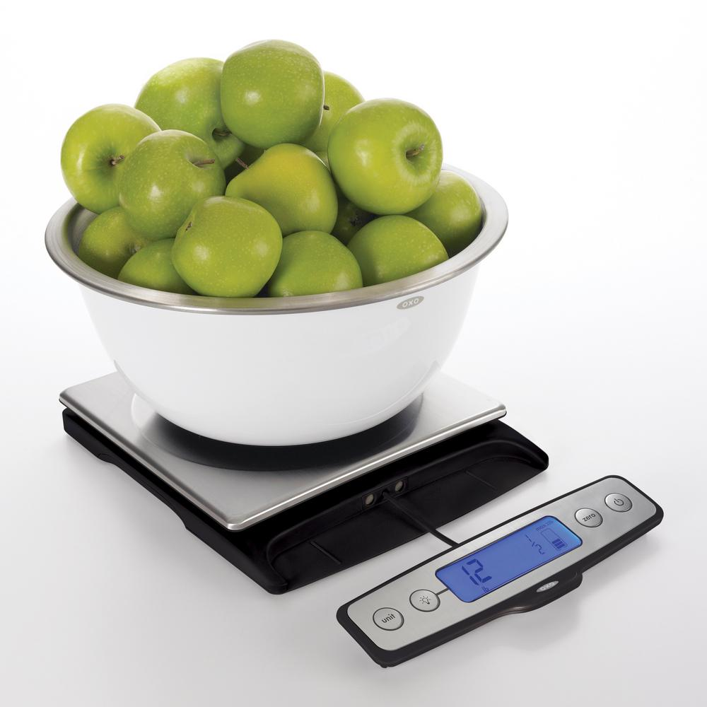 Good Grips 22 lb. Stainless Steel Pull-Out Display Food Scale