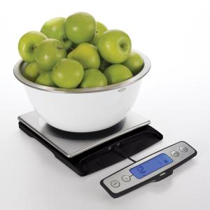 Click here to buy OXO Good Grips 22 lb. Stainless Steel Pull-Out Display Food Scale by OXO.