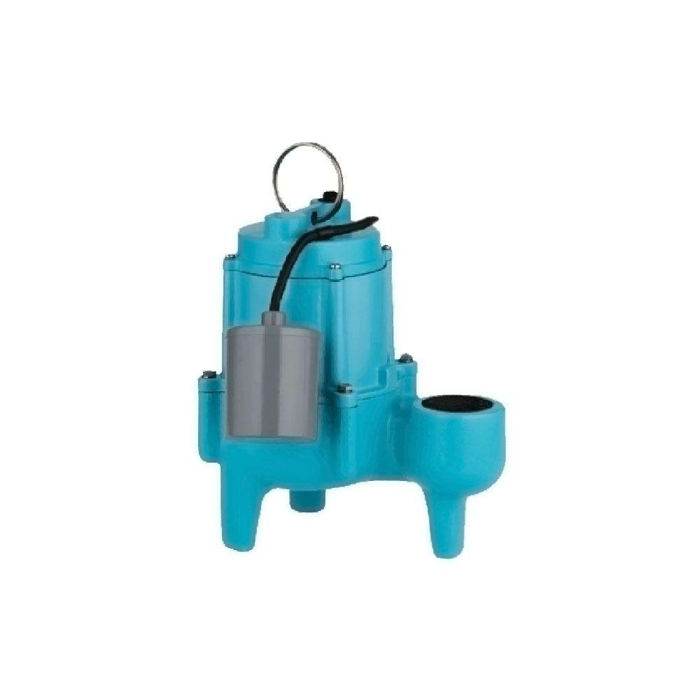 Little Giant 9SN-CIA-RF 4/10 HP Submersible Sewage Pump with Piggyback Mechanical Float Switch