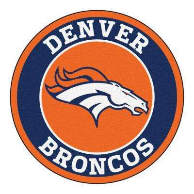 NFL Denver Broncos Navy 2 ft. 3 in. x 2 ft. 3 in. Round Accent Rug