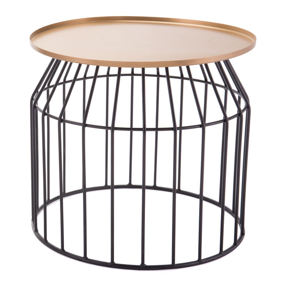 Zuo tray gold and black small end table