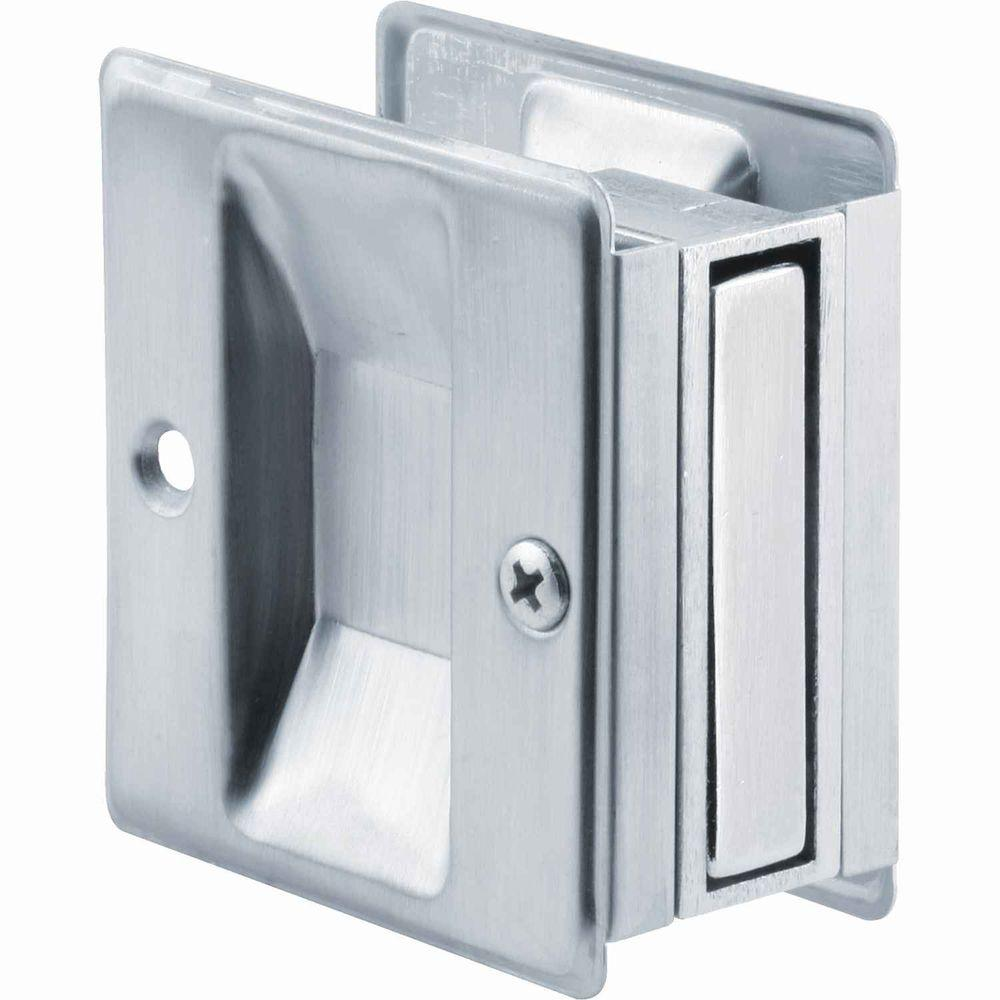 Prime Line Satin Chrome Pocket Door Pull