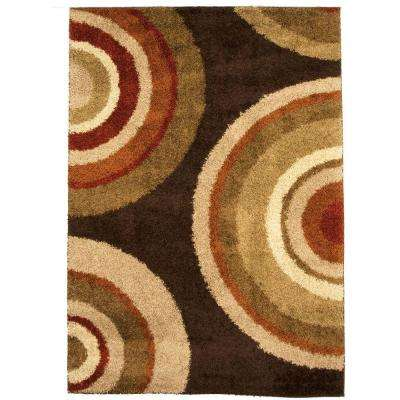 Eclipse Brown 7 ft. x 10 ft. Indoor Area Rug
