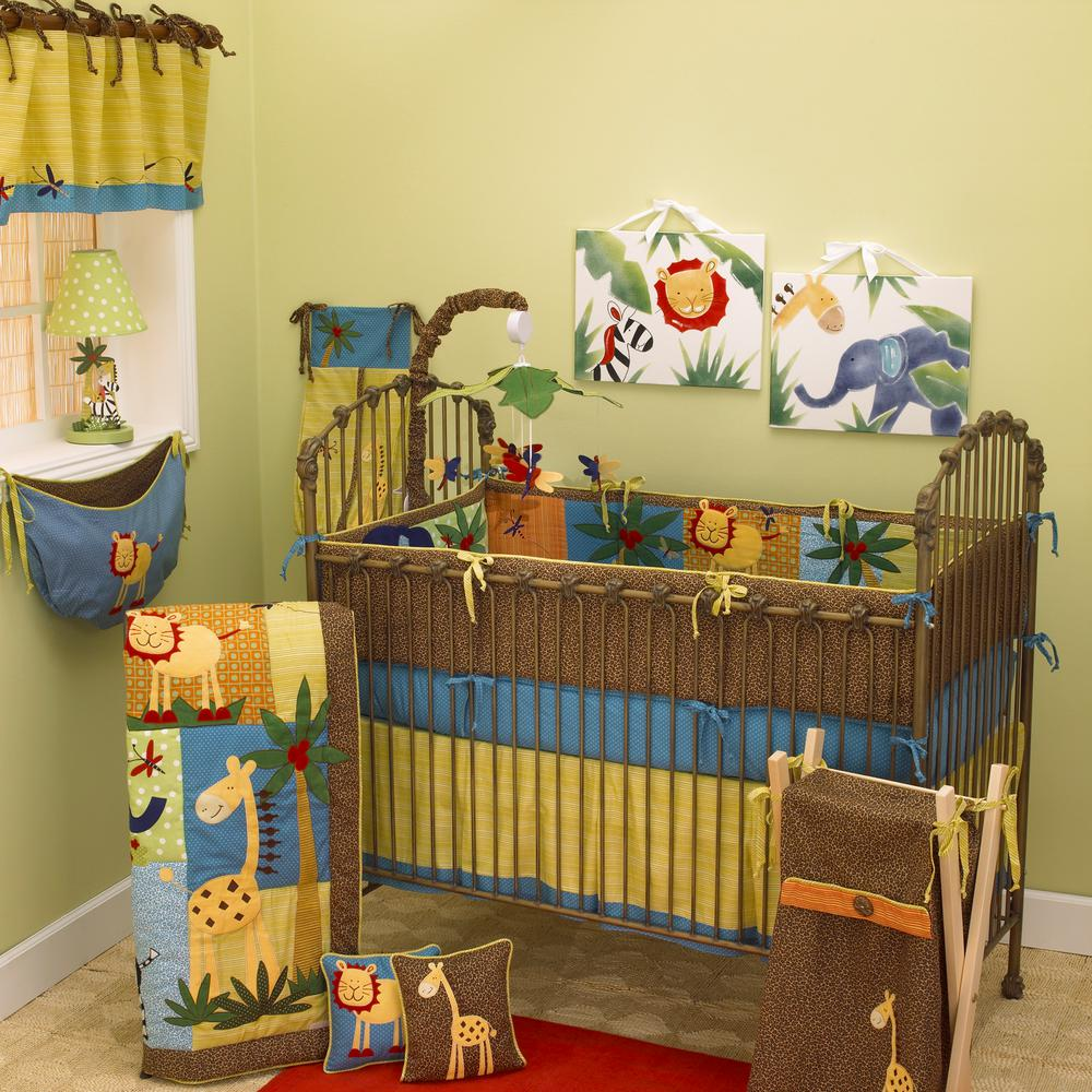 Cotton Tale Paradise Multicolor Jungle 4-Piece Crib Beddi...