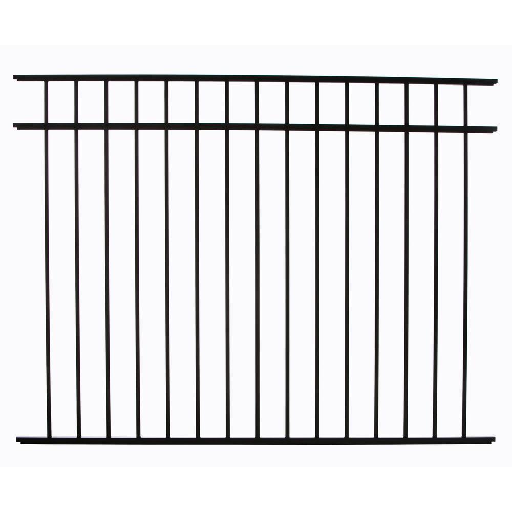 Meriden 4.5 ft. H x 6 ft. W Aluminum Fence Panel
