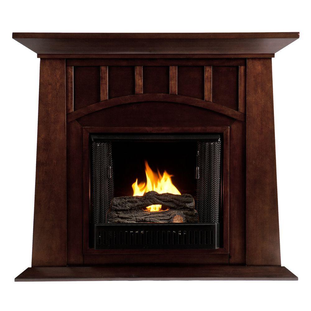 Southern Enterprises Lowery 48 in. Gel Fuel Fireplace in Espresso