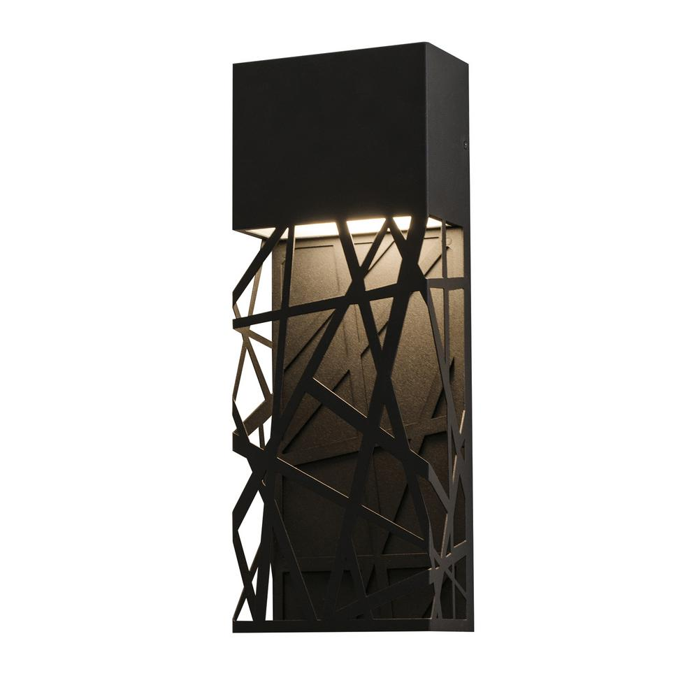 Boon Black Integrated LED Outdoor Wall Lantern Sconce