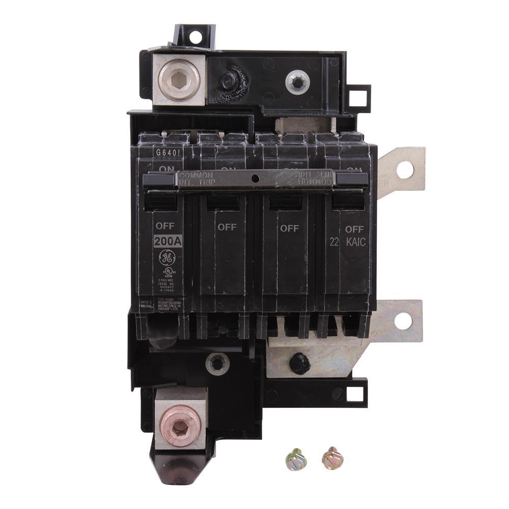 Ge Powermark Gold 200 Amp Double Pole Main Circuit Breaker Conversion Kit Thqmv200dp The Home Depot