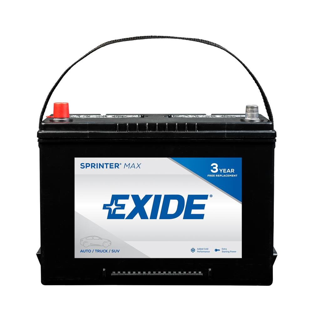 Exide Sprinter 12 Volts Lead Acid 6 Cell 27 Group Size 750 Cold Cranking Amps