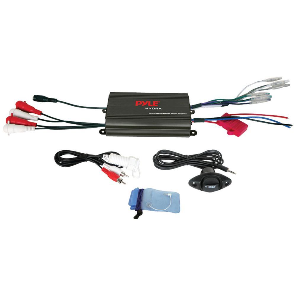 Pyle Hydra 4-Channel 800-Watt Waterproof Micro Marine Class AB Amplifier