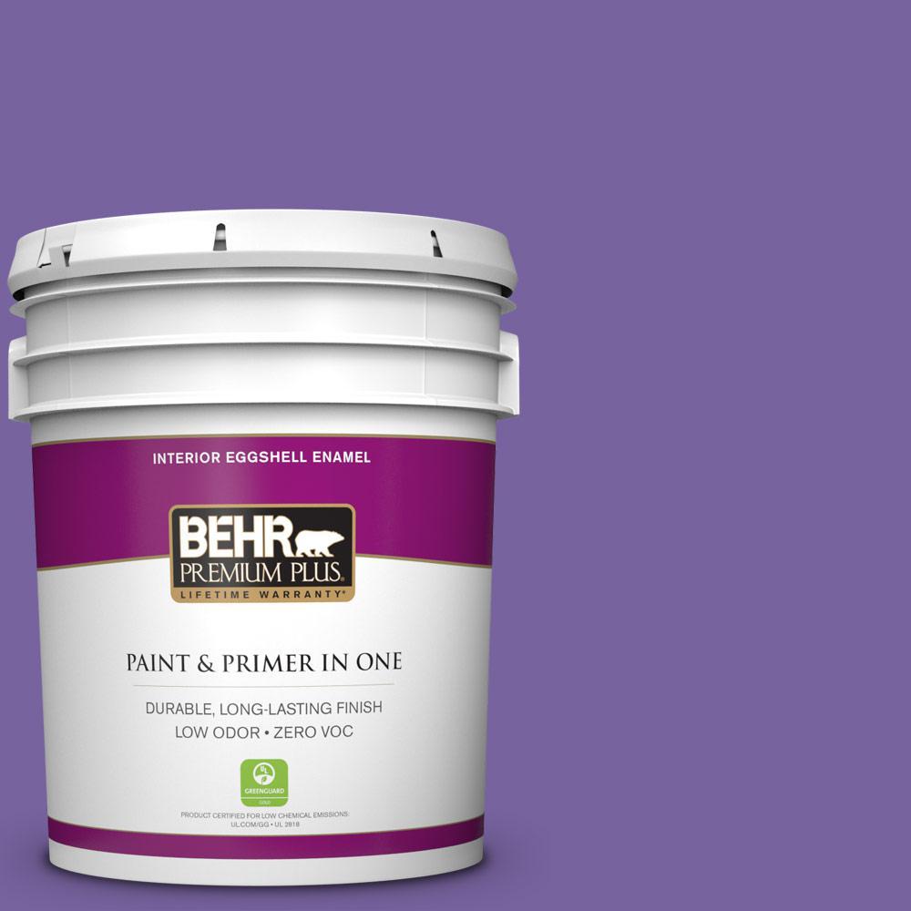 5 gal. #PPU16-03 Purple Paradise Zero VOC Eggshell Enamel Interior Paint