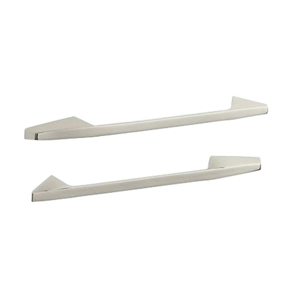 KOHLER Caribbean 16-5/8 in. x 1-1/2 in. Concealed Screw Double Grab Bar in Vibrant Polished Nickel-DISCONTINUED