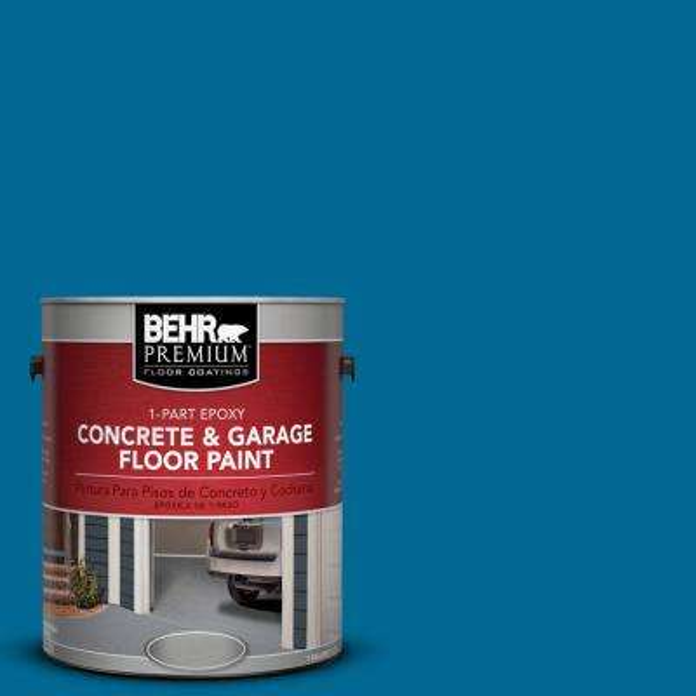 1 gal. #OSHA-1 Osha Safety BLUE 1-Part Epoxy Concrete and Garage Floor Paint
