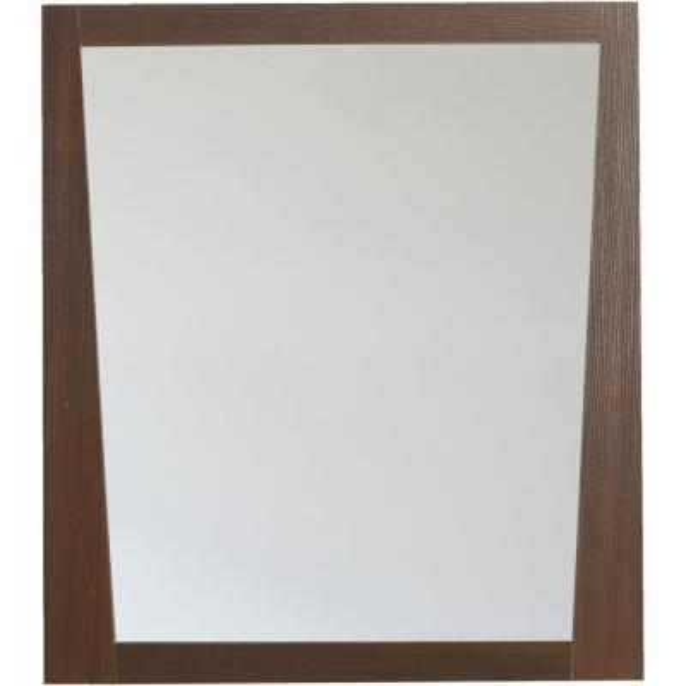 16-Gauge-Sinks 29.5 in. x 33.5 in.Single Framed Wall Mirror in Melamine Wenge