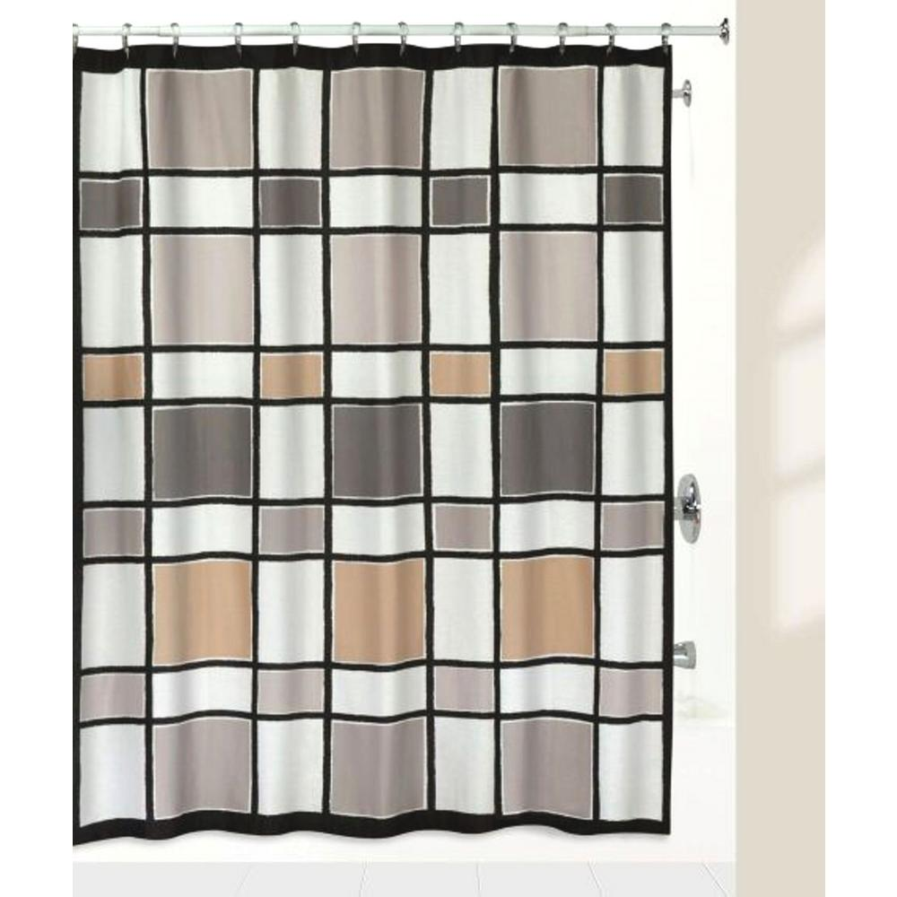 Creative Bath Color Blocks 72 In Multi Color Shower Curtain