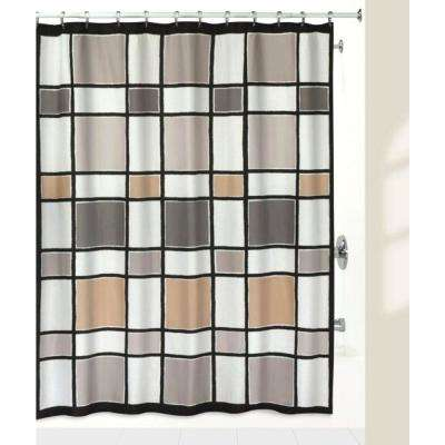 'Color Blocks' 72 in. Multi-Color Shower Curtain