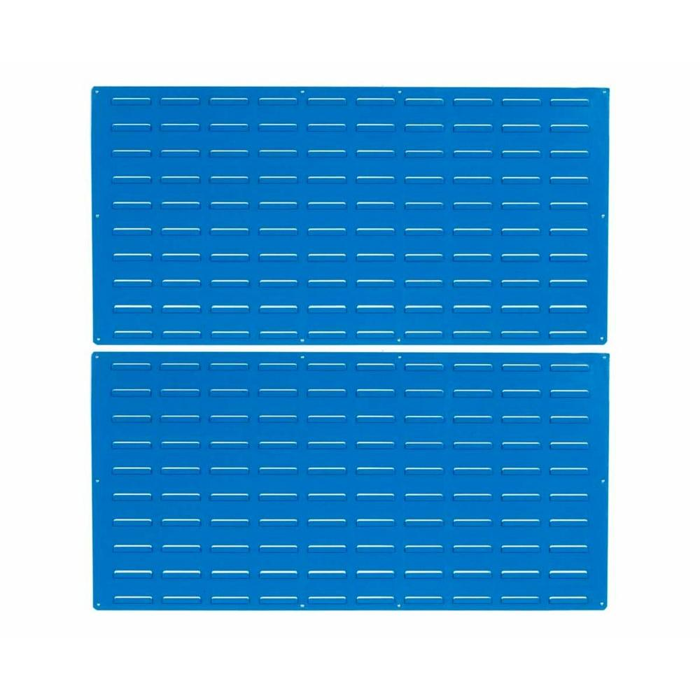 Triton Products 24 in. H x 48 in. W Louvered Slat Wall Panel (Set of 2)