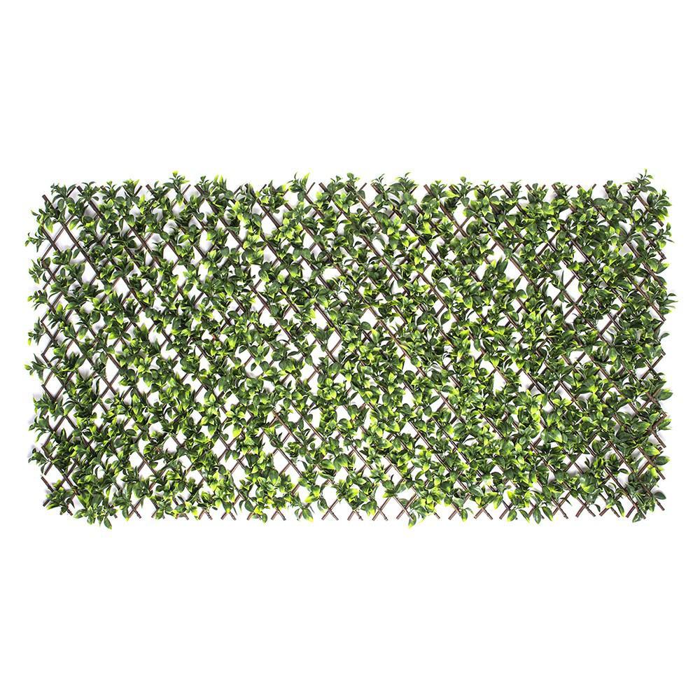 Expandable Willow Trellis with Gardenia Leaf