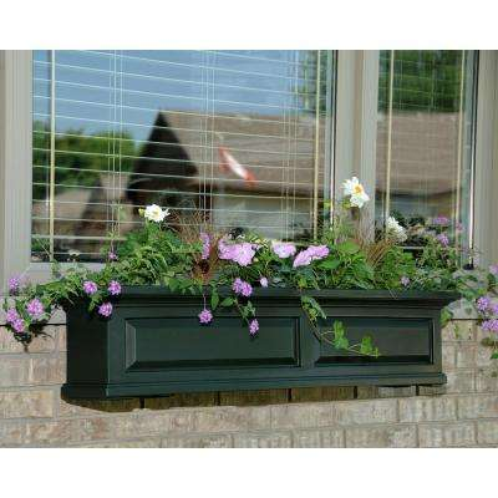 Nantucket 10 in. x 48 in. Green Polyethylene Window Box