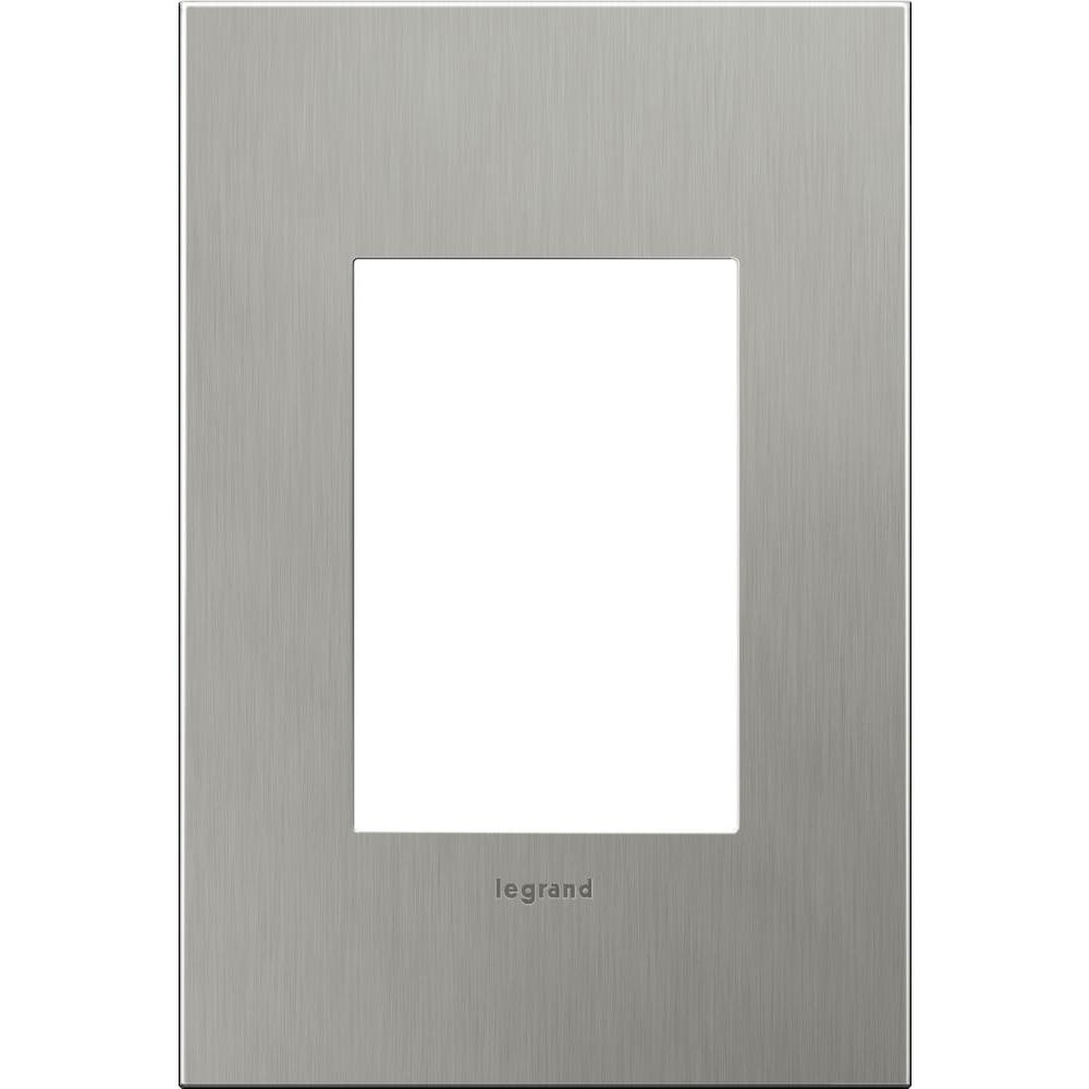 Legrand Adorne 1 Gang Wall Plate Brushed Stainless Steel