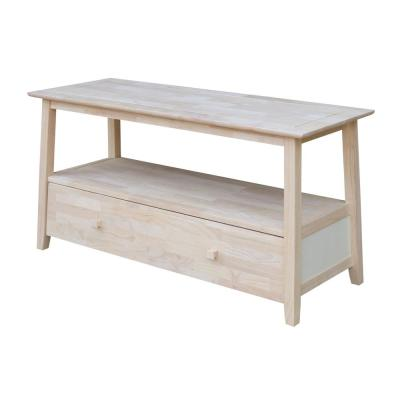 Tv Console Wood Unfinished Stands Living