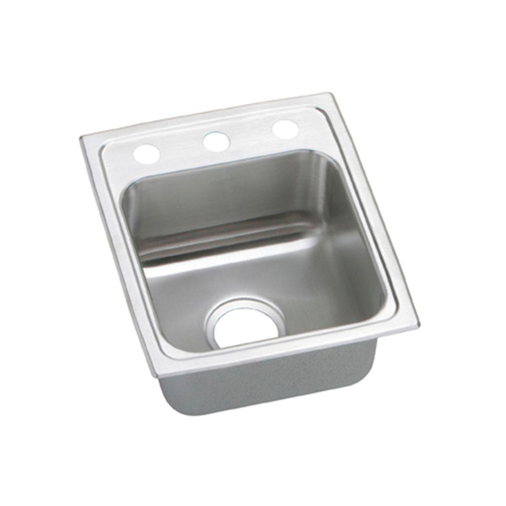 Pacemaker Drop In Stainless Steel 15 In. 1 Hole Bar Sink
