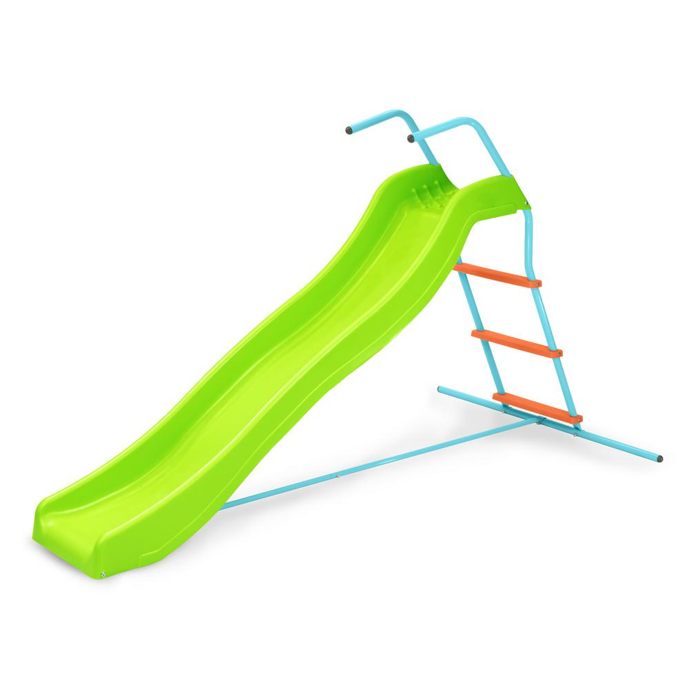 Pure Fun 6 ft. Wavy Kids Slide-9305WS - The Home Depot