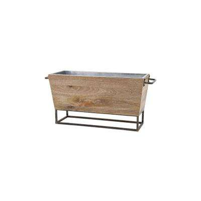 Jameson 30 in. x 10 in. x 14 in. Natural Wood Beverage Tub