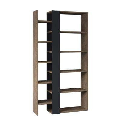 Boise Walnut and Anthracite Modern Bookcase