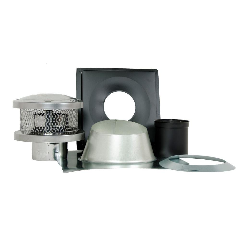 6 in. x 21 in. Triple-Wall Chimney Stove Pipe Vent Kit