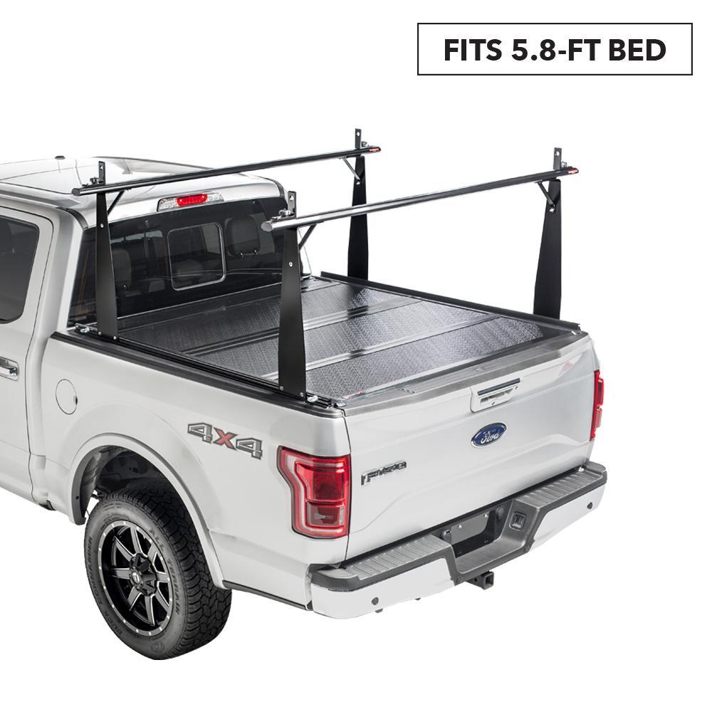 CS Tonneau Cover/Truck Bed Rack Kit for 14-18 (19 Leg/Lim) Silv/Sierra 5 ft. 9 in. Bed