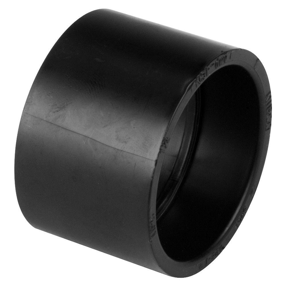 null 3 in. Black ABS DWV H x H Coupling