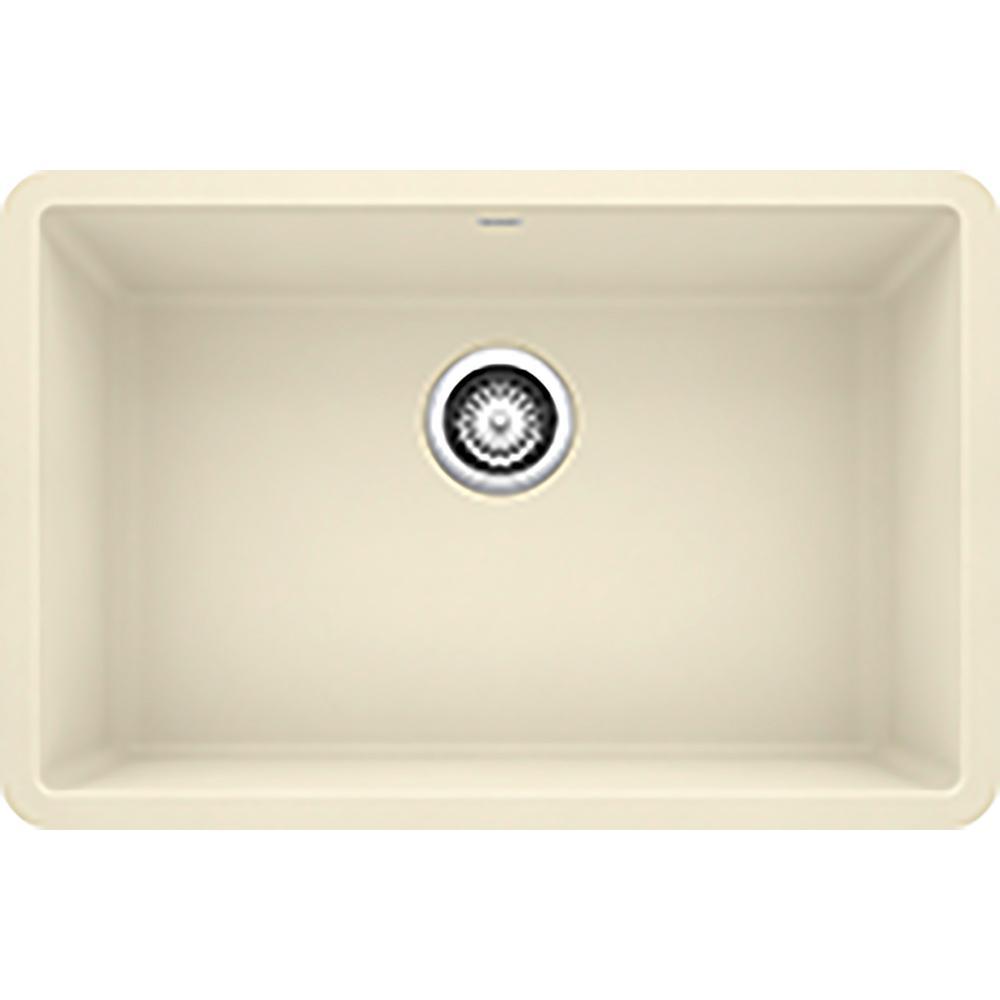 PRECIS Undermount Granite Composite 27 in. Single Bowl Kitchen Sink in Biscuit