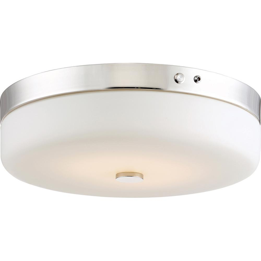 Filament Design 20-Watt Polished Nickel Integrated LED