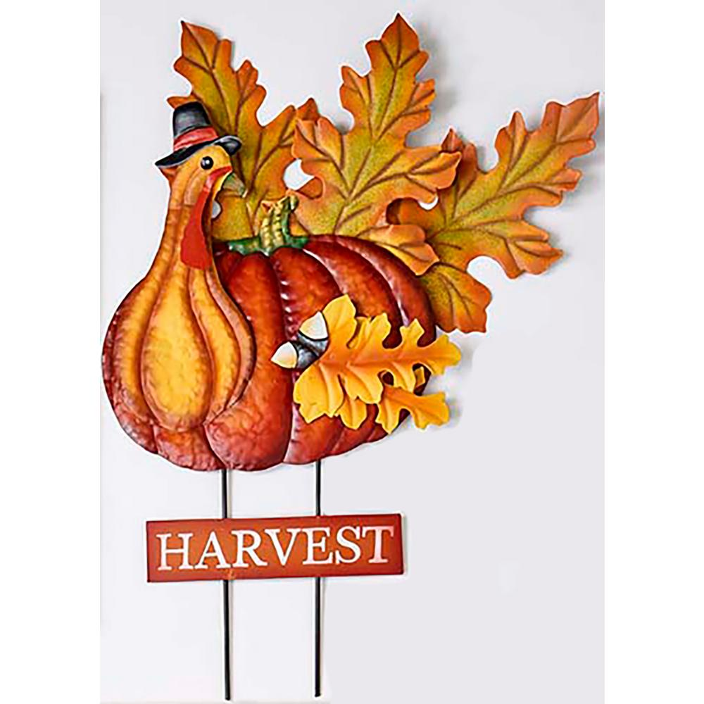 Worth Imports 26 In Metal Turkey On Stake 8855 The Home