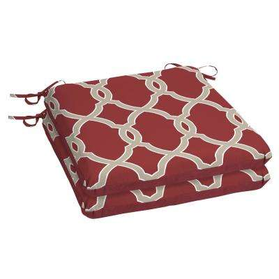 Jeanette Trellis Square Outdoor Seat Cushion (2-Pack)