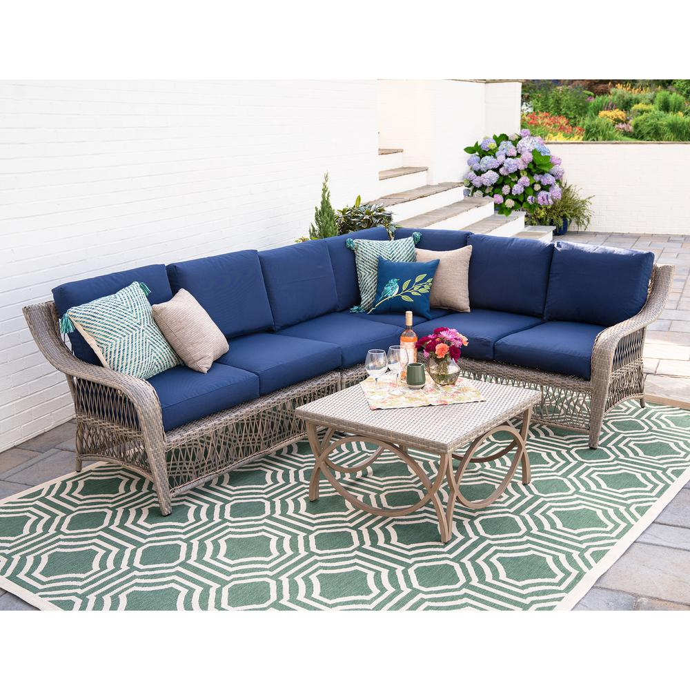 Sectional Sofas Birmingham Al: Leisure Made Birmingham 5-Piece Wicker Outdoor Sectional