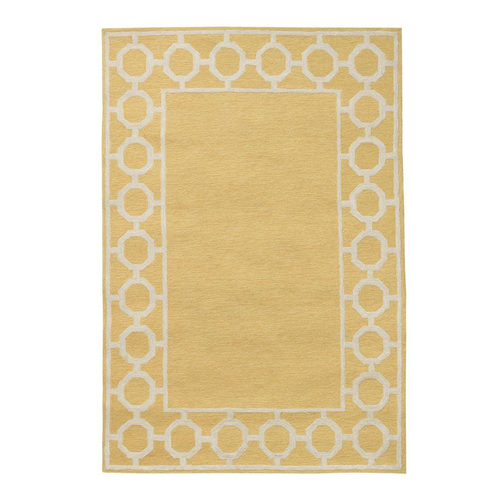home decorators collection espana border yellow 2 ft x 3