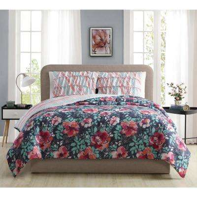 Yorkshire Ruffle Full/Queen Comforter Set (3-Piece)