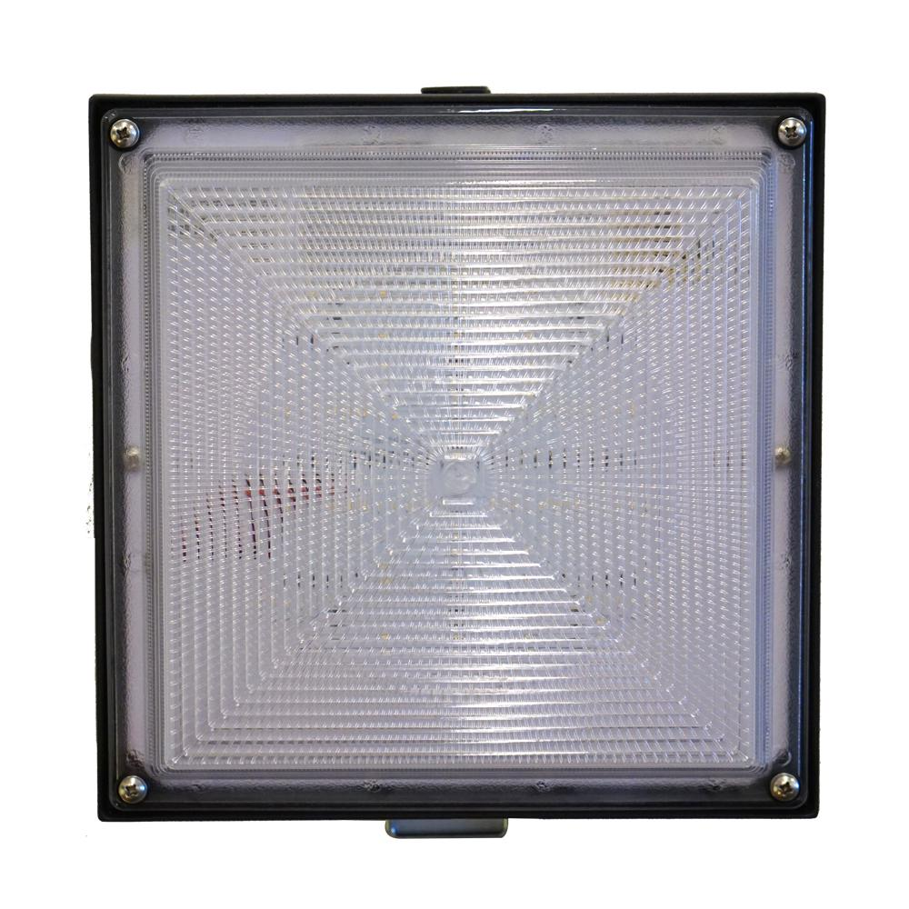 Bell 20-Watt Bronze Integrated LED Flush Mount with Dimming Driver
