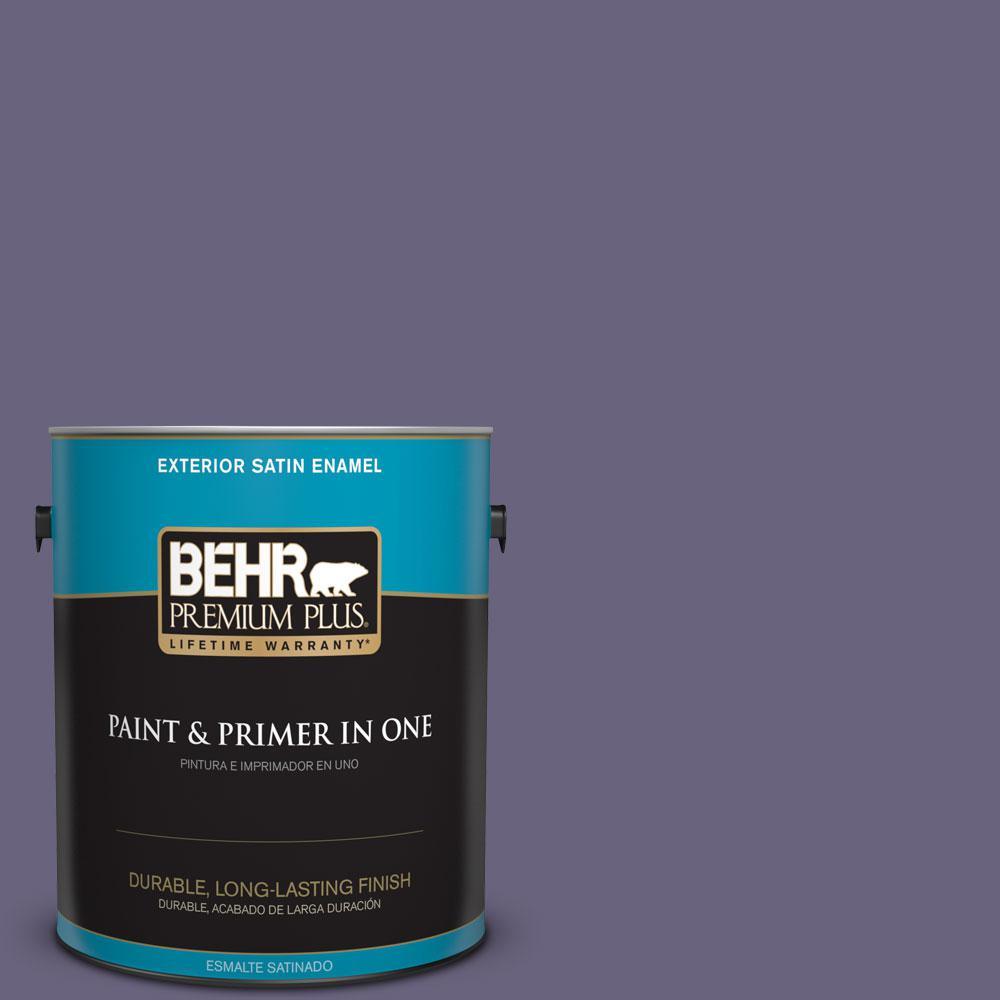 1-gal. #650F-6 Victorian Iris Satin Enamel Exterior Paint