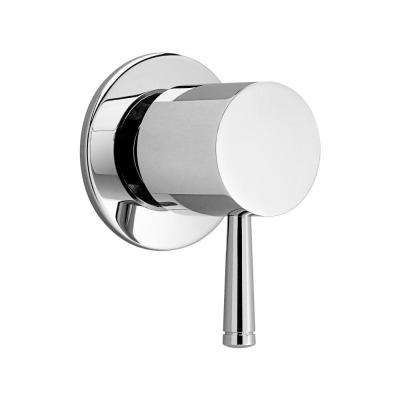 Serin Lever 1-Handle Wall Mount On/Off Volume Control Valve Trim Kit in Polished Chrome (Valve Not Included)