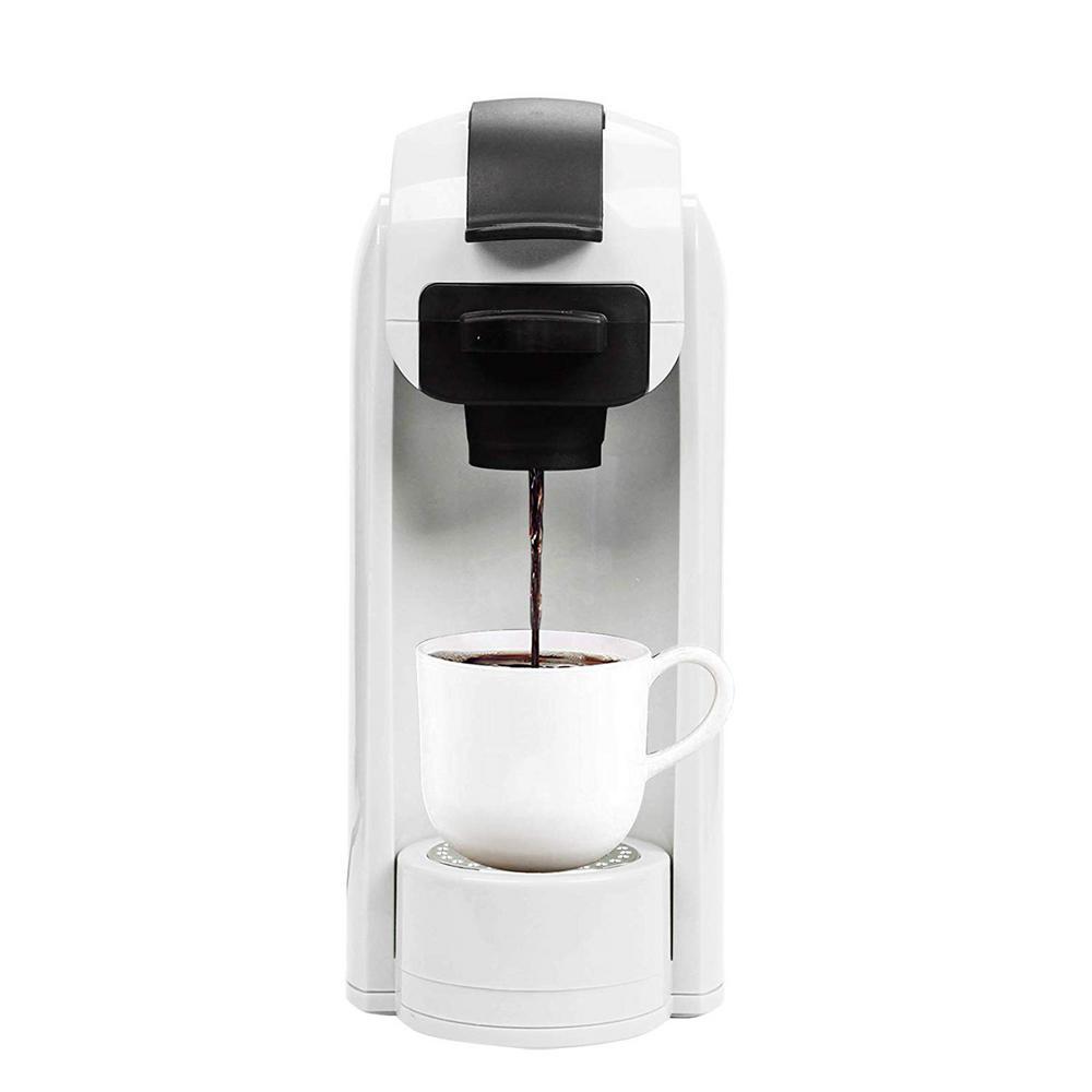 White 1000-Watt 4-Cups Coffee Machine Single Serve Coffee Maker