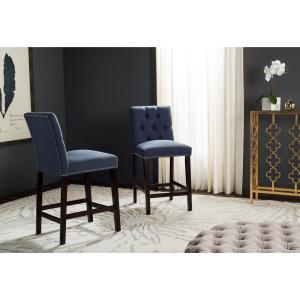 Safavieh Norah 27 5 In Counter Stool In Navy Set Of 2