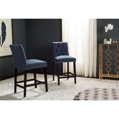 Norah 27.5 in. Counter Stool in Navy (Set of 2)