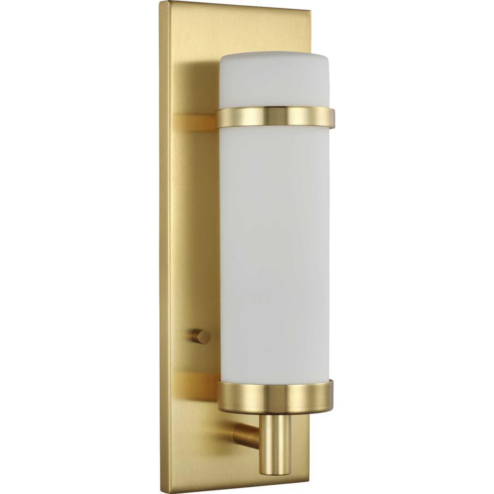 Hartwick 1-Light Satin Brass Wall Sconce