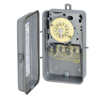 T104R 40 Amp 208-277 Volt DPST 24-Hour Mechanical Time Switch with Outdoor Enclosure